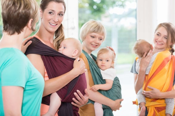 Stillvorbereitung, Baby tragen Kurse